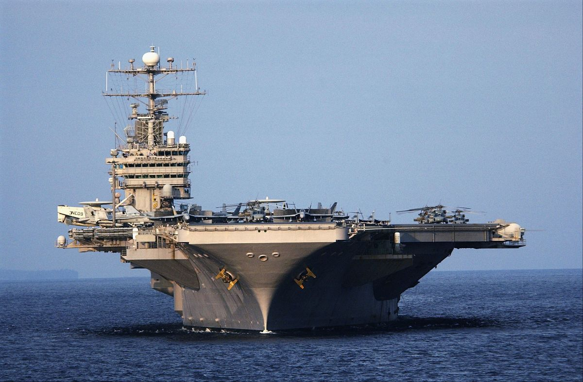 Iran Warning: U S  Deploys Aircraft Carrier to Middle East