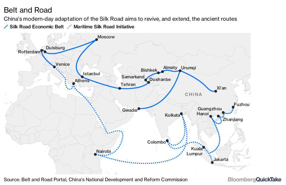 China S New Silk Road Bloomberg