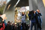 Iranian students protest during a demonstration in Tehran on Dec. 30, 2017.