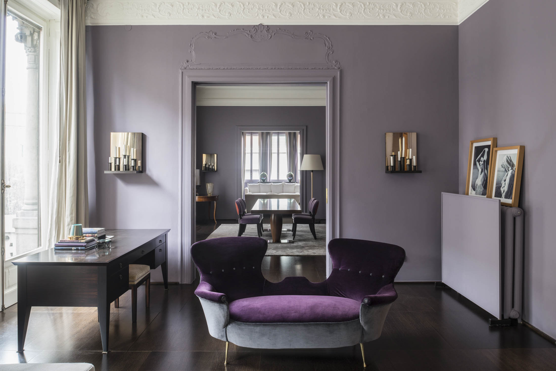 Inside the milan apartment of furniture designer romeo for Apartment 9 furniture