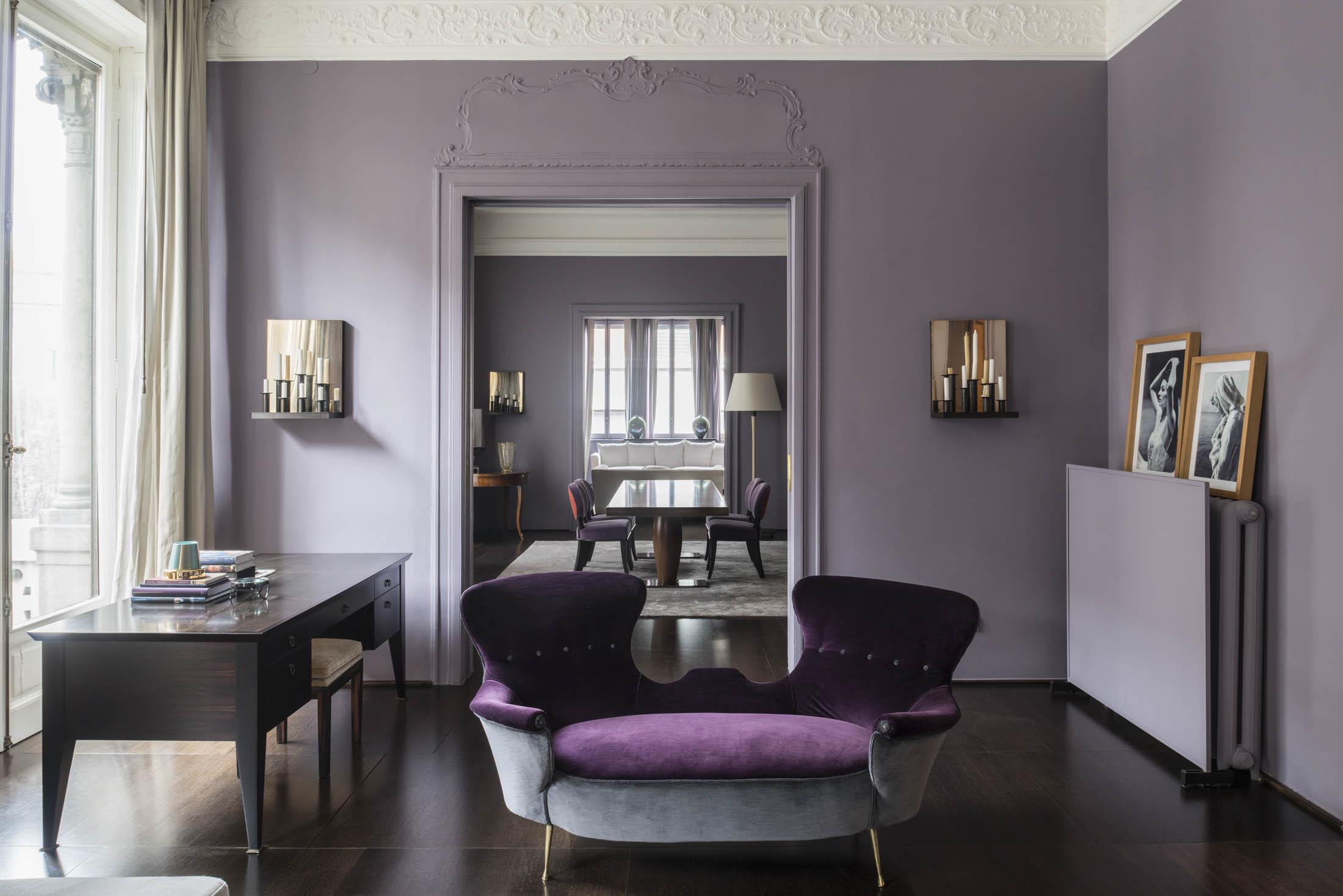 Inside the milan apartment of furniture designer romeo for Apartment 9 furniture