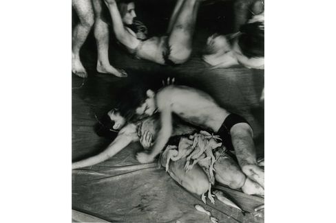 Carolee Schneemann, Meat Joy(1964). Silver print, edition 1 of 2. From Judson Memorial Church Performance, New York. Photo by Al Giese.