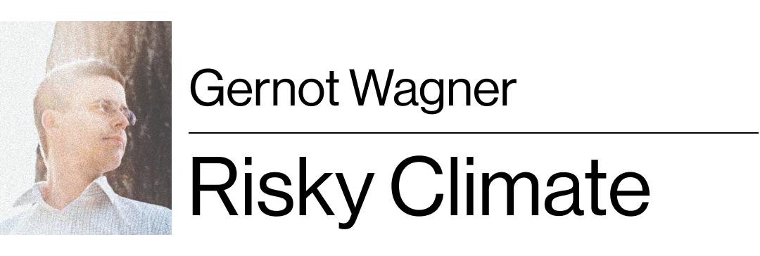 Gernot Wagner's Risky Climate