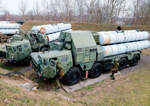 A crew operating an S-300 surface-to-air missile system takes part in a military exercise by the Baltic Fleet of the Russian Navy, on Feb. 5.