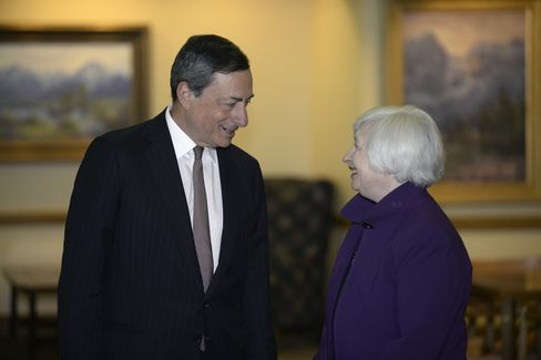 Mario Draghi and Janet Yellen