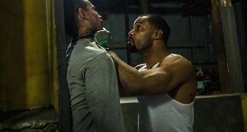 Omari Hardwick, right, as Ghost and Manny Montana as Miguel Alvarez.