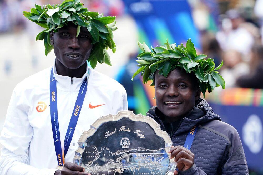 NYC Marathon Winners 2019: Geoffrey Kamworor, Joyciline