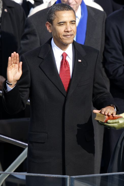 U.S. President Barack Obama during his inauguration