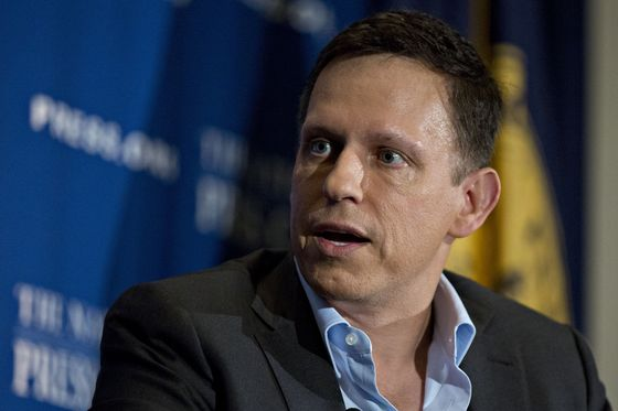 Peter Thiel Considers Strategies to Back Chinese Startups