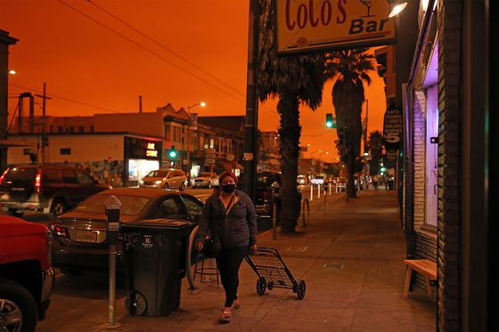 In Smoky San Francisco, Covid-Hit Businesses Suffer Double Blow