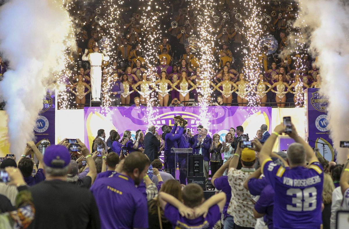 LSU Title Parade Draws Massive Crowds