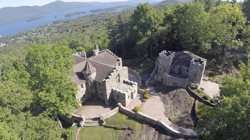 The castle offers a clear view of Lake George.