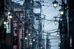 Power and utility cables in Hachioji, Tokyo.
