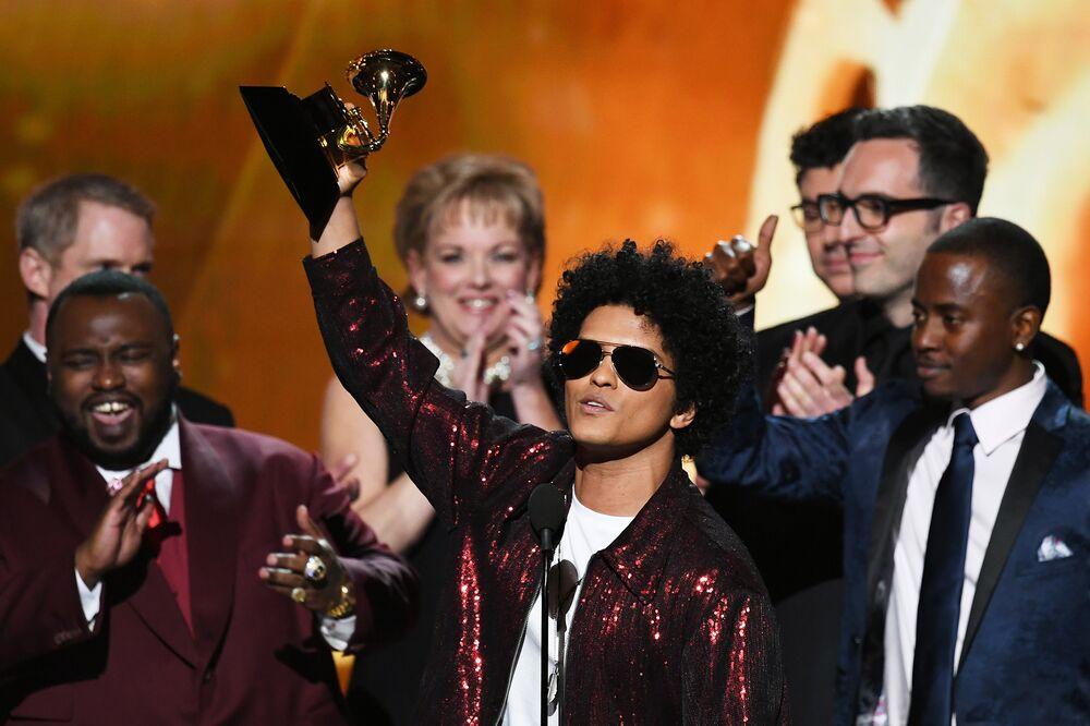Bruno Mars Gets Top Grammys as Feel-Good Pop Wins Over Politics