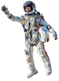 Felix Baumgartner used a GoPro during his 24-mile dive from space