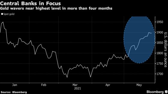 Gold Wavers Near Four-Month High With Central Banks in Focus