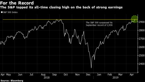 U.S. Stocks Rally to Record on Earnings Surprises: Markets Wrap