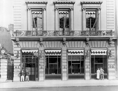 The façade of Cartier New York, 1920.