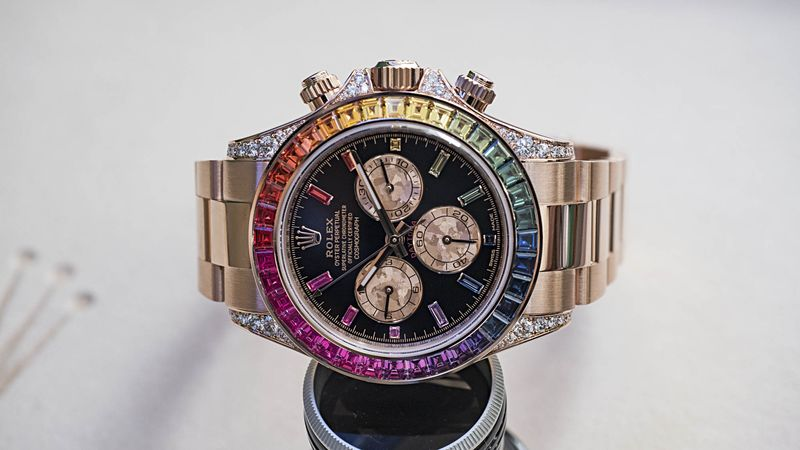rainbow daytona review: hand-on with the most extreme new rolex
