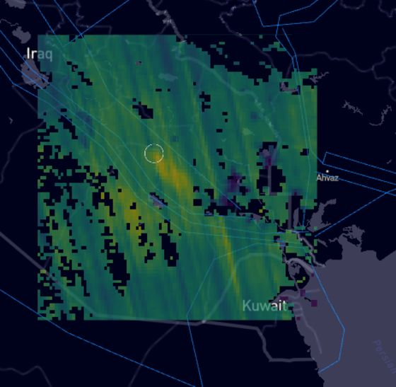 Large Methane Plume Detected Over Southern Iraq