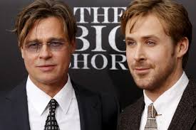 Brad Pitt & Ryan Gosling at premiere of 'The Big Short'