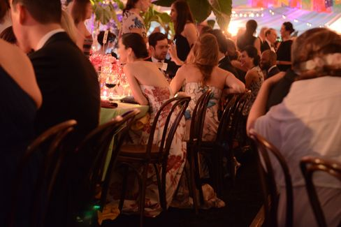 The scene at a Frida Kahlo-inspired party. Photographer: Amanda Gordon/Bloomberg