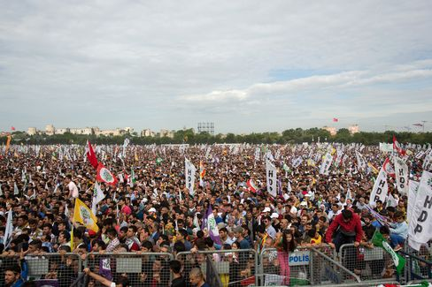 Political Rally Of The Pro-Kurdish Peoples' Democratic Party Ahead Of Election