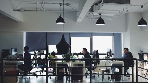 Engineers work at LiuLiShuo offices in Shanghai.