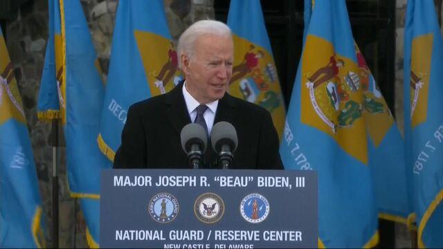 Biden Gives Emotional Remarks on Inauguration Eve