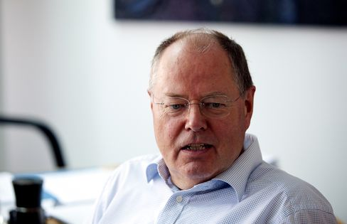 SPD German Chancellor Candidate Peer Steinbrueck