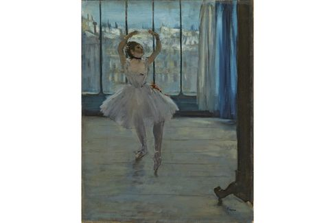Edgar Degas, La Danseuse dans l'atelier du photographe, 1875.