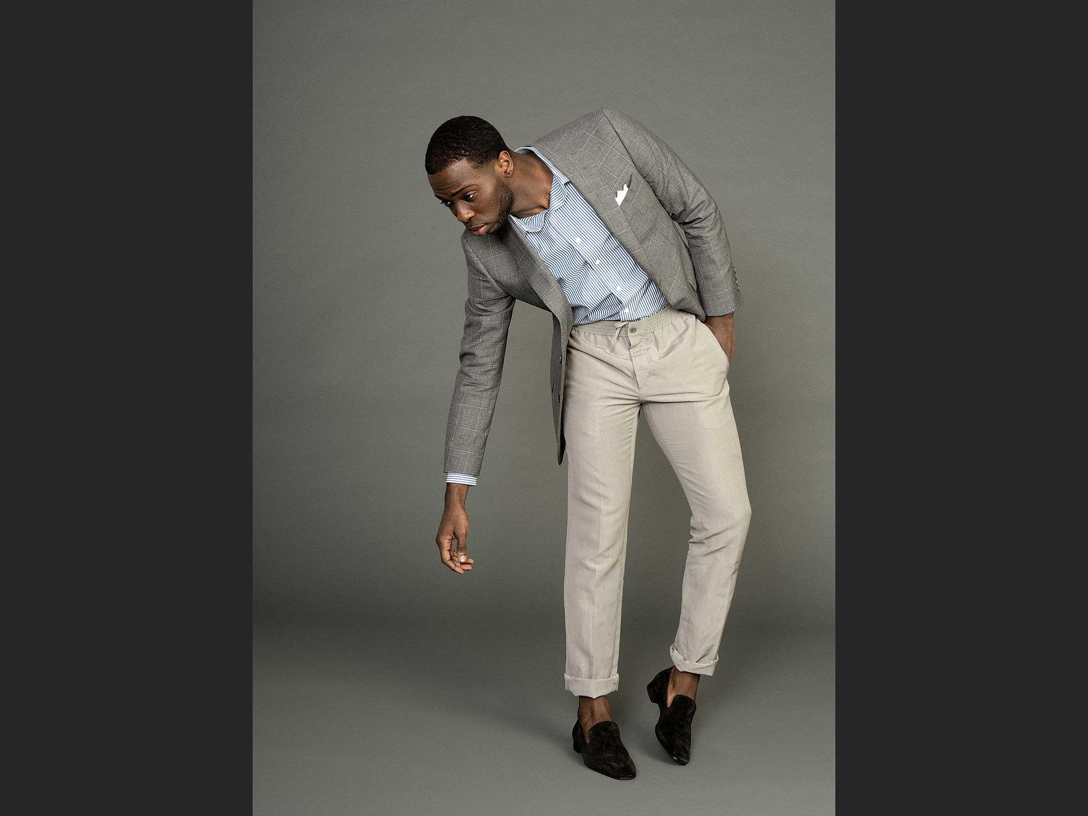 Hermès Narrow elastic waist trousers