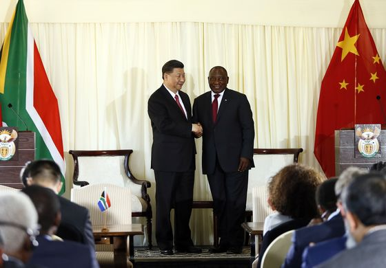 South Africa Gives China Platform on Trade as BRICS Meet