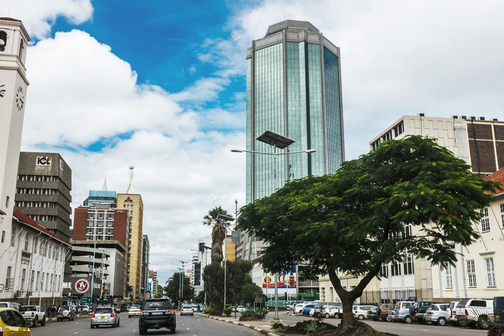 The Reserve Bank of Zimbabwe tower in Harare.