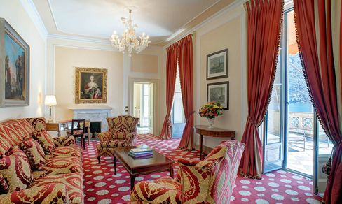A suite at the Villa d'Este.