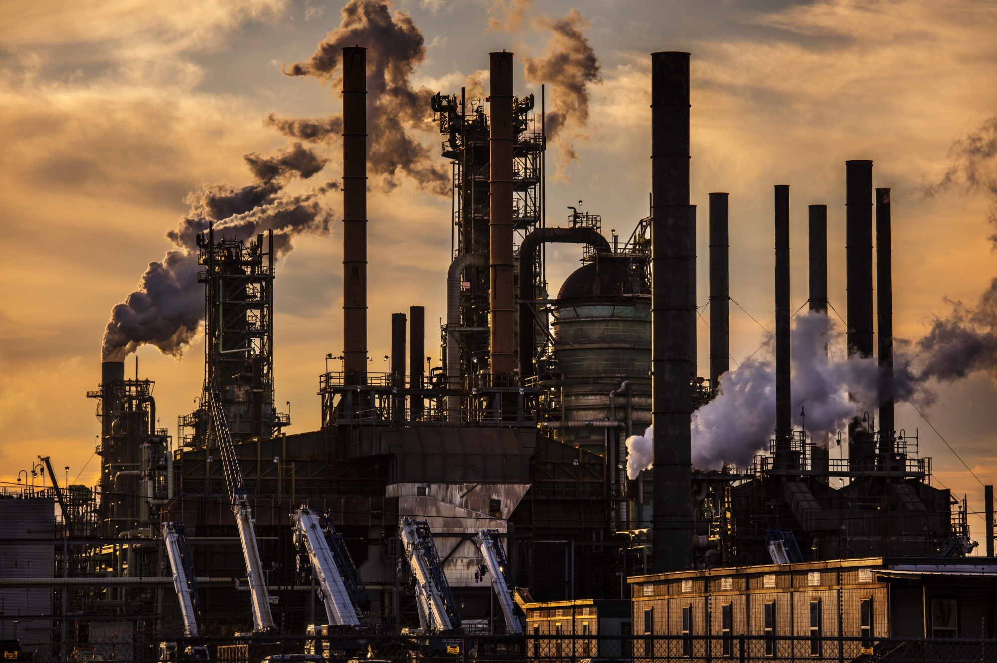 Exxon Mobil's oil refinery in Baton Rouge, Louisiana in February 2020.