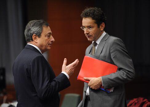 ECB's Mario Draghi & Dutch Finance Minister Jeroen Dijsselbloem