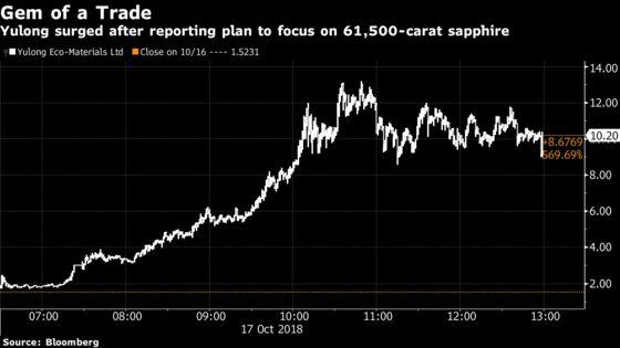 Stock Soars 570% on Pivot From Bricks to a 61,500-Carat Gem