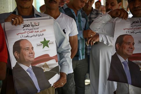 El-Sisi supporters