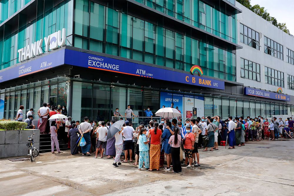 Myanmar Coup: Central Bank Says Deposits Are Safe Amid Cash Crunch -  Bloomberg