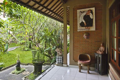 Balinese Style Architecture At A Home Stay, Ubud, Bali