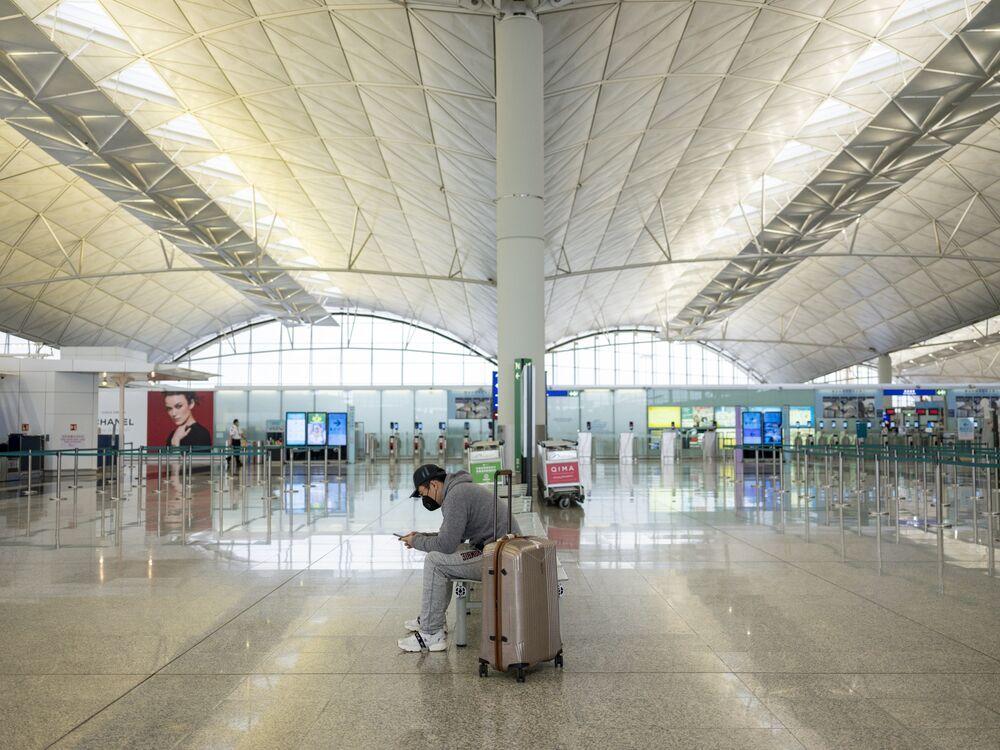 Hong Kong Airport As Virus Causes Traffic Slump