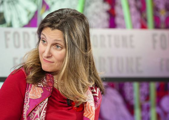 For Canada's Freeland, Canola Battle With China Gets Personal