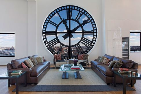 The triplex penthouse in Dumbo's Clock Tower building