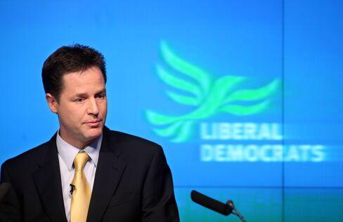 Nick Clegg, leader of the U.K. Liberal Democrat party