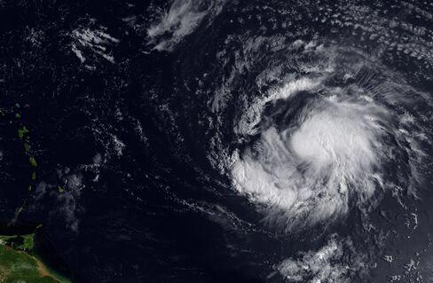 Hurricane Katia Weakens to Category 3 Storm South of Bermuda
