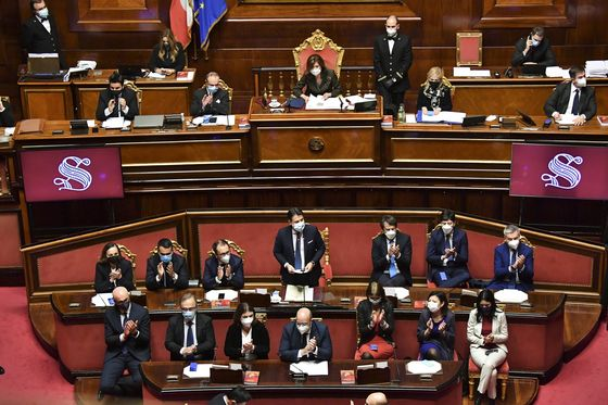 Italy's Conte Appeals to Senate for Government's Survival