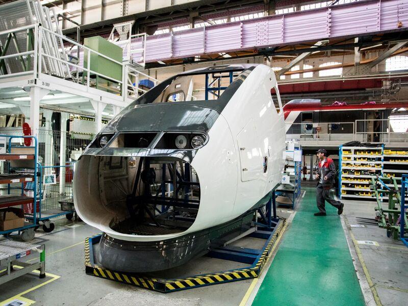 France's Finance Minister Bruno Le Maire Visits An Alstom SA TGV Train Factory