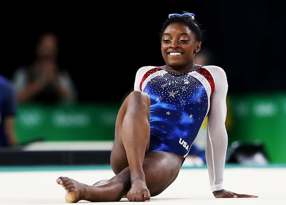 Super Simone! Biles Soars to Olympic All-Around Title - Bloomberg