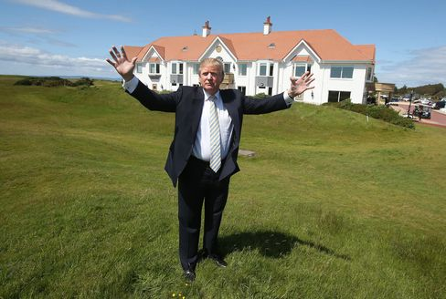 Donald Trump visits Turnberry